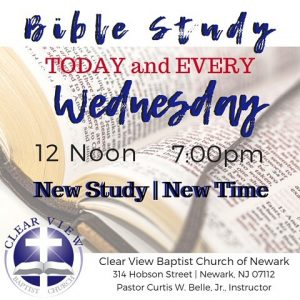 Bible Study @ Clear View Baptist Church | Newark | New Jersey | United States